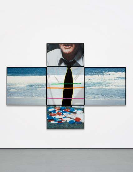 John Baldessari-The Intersection Series: Person Playing Poker/Beach Scene-2002