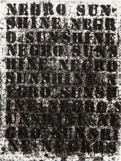 Glenn Ligon-Study For Negro Sunshine #19-2006