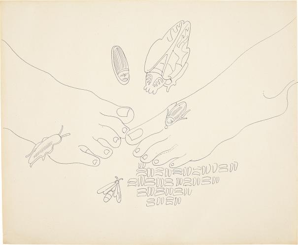 Andy Warhol-Feet-1957