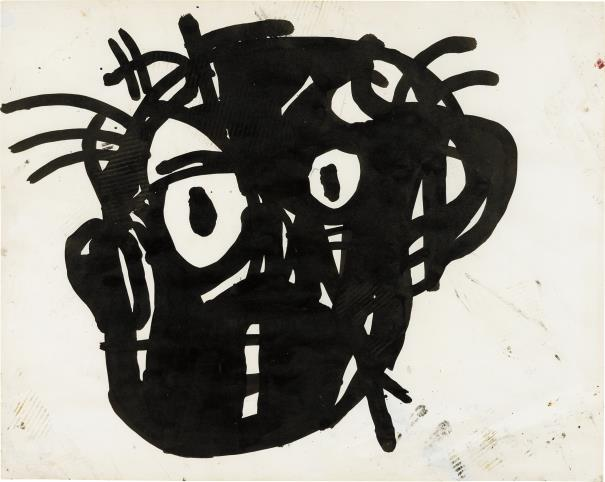 Jean-Michel Basquiat-Untitled Head-1982
