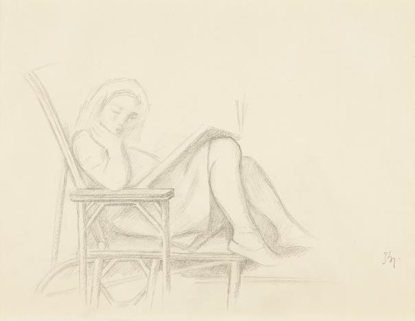 Balthus-Jeune Fille Lisant-1955