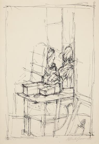 Alberto Giacometti-Vue De L'Atelier De L'Artiste-1949