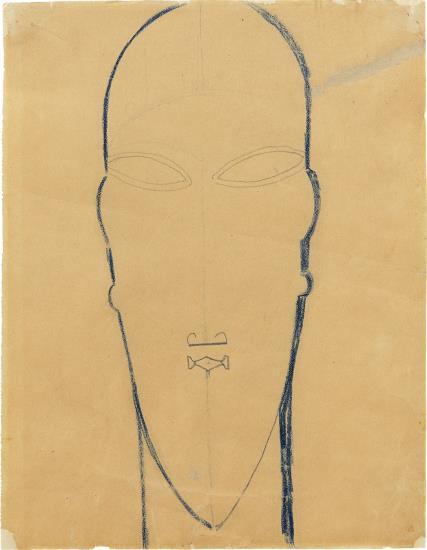 Amedeo Modigliani-Study For A Sculpture Head-1911