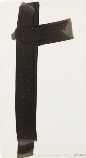 Pierre Soulages-Untitled: For Rudo Et Hannalore-