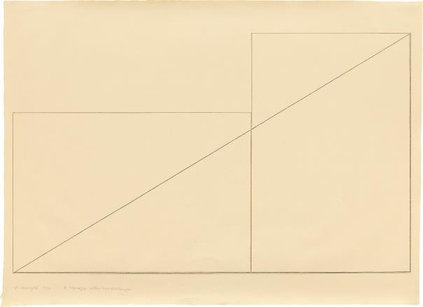 Robert Mangold-A Triangle Within Two Rectangles-1976