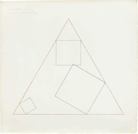 Robert Mangold-3 Squares Within A Triangle-1976