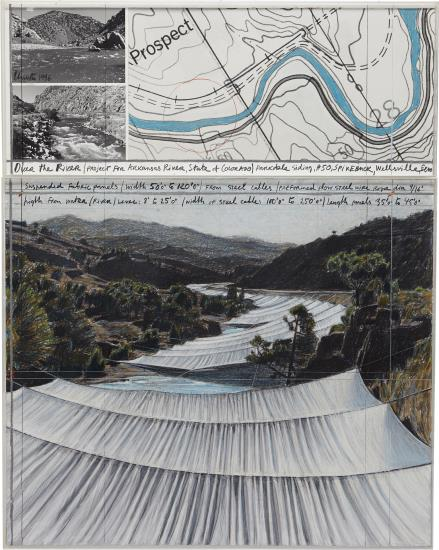 Christo and Jeanne-Claude-Over The River, Project For Arkansas River, State Of Colorado, Parkdale Siding, #50-1996