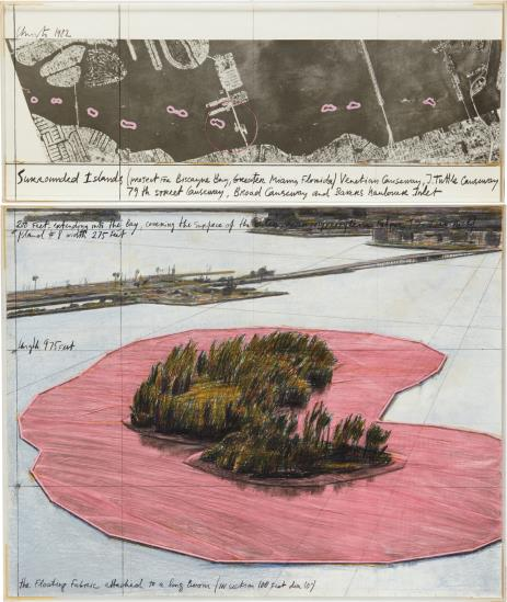 Christo and Jeanne-Claude-Surrounded Islands, Project For Biscayne Bay, Greater Miami, Florida-1982