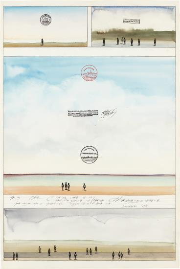 Saul Steinberg-Four Sunsets-1974