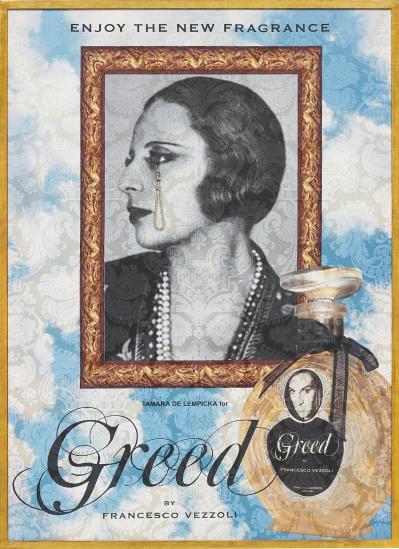 Francesco Vezzoli-Enjoy The New Fragrance (Tamara De Lempicka For Greed)-2009