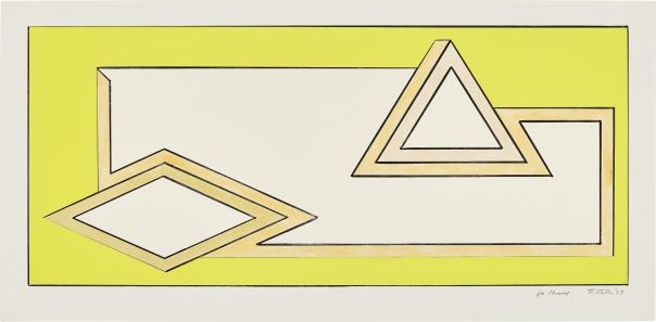 Frank Stella-Untitled (Study For Stacks)-1967