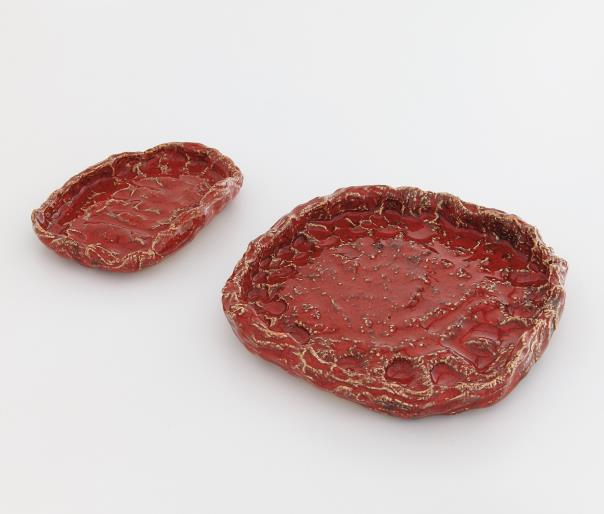 Sterling Ruby-Two Works: (I) Ashtray 261 (Ii) Ashtray 266-2013
