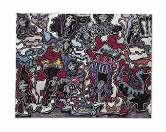 Jean Dubuffet-Rue de l'Entourloupe-1963
