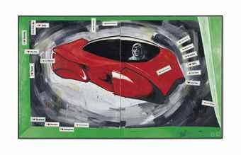 Martin Kippenberger-The Capitalistic Futuristic Painter in His Car-1985