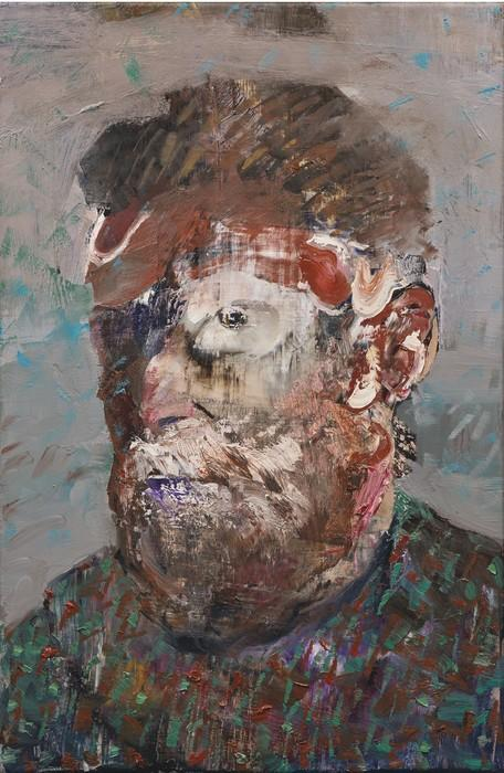 Adrian Ghenie-Self-Portrait As Vincent Van Gogh-2012