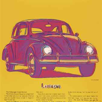 Andy Warhol-Volkswagen, from Ads-1985