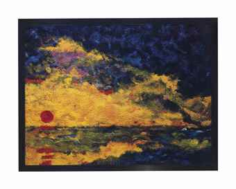 Vik Muniz-Sunset, after Emil Nolde-2006
