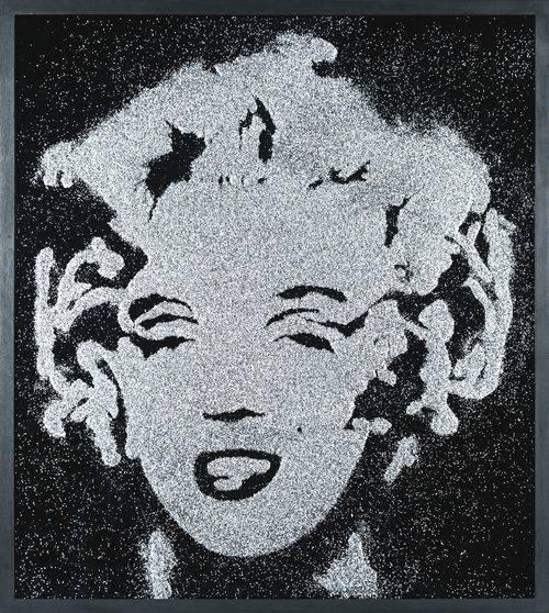 Vik Muniz-Black Marilyn (Pictures Of Diamond Dust)-2003