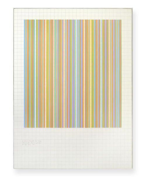 Bridget Riley-4 Colours (9 Whites, 3rd Group) Study 2 for Summer Paintings-1983