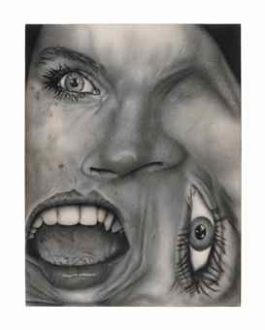 Jim Shaw-Untitled (Distorted Face #5)-1984