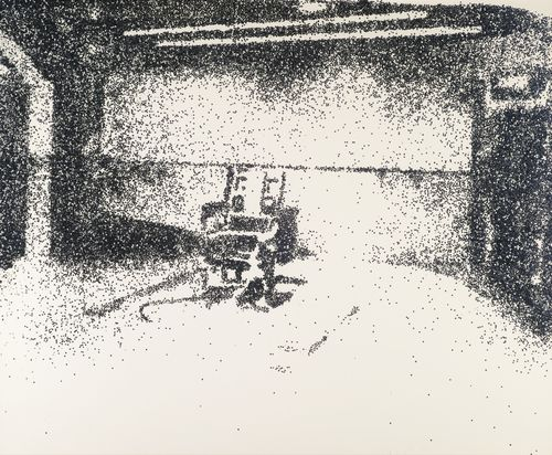Vik Muniz-Electric Chair (Pictures Of Glitter)-2001