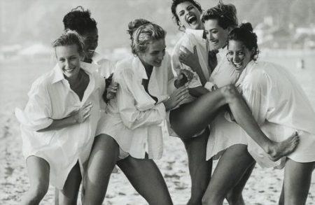 Peter Lindbergh-Linda Evangelista, Tatjana Patitz, Christy Turlington, Estelle Lefebure, Karen Alexander, Rachel Williams', Vogue Us, Beach Los Angeles-1990