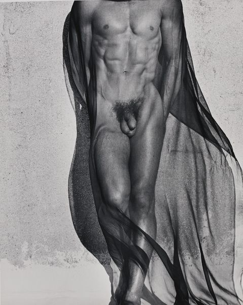 Herb Ritts-Veiled Male Nude, Full Length-1985