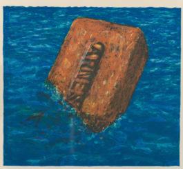 Robert Arneson-Moby Brick-1975