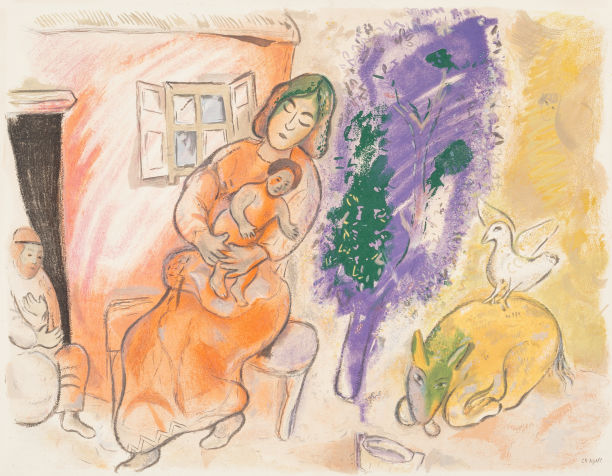 Marc Chagall-After Marc Chagall - Maternity-1954