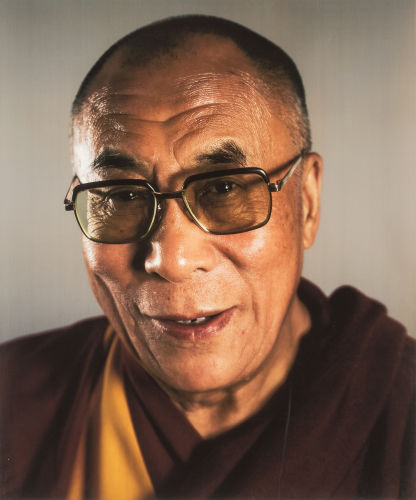 Chuck Close-Dalai Lama-2005