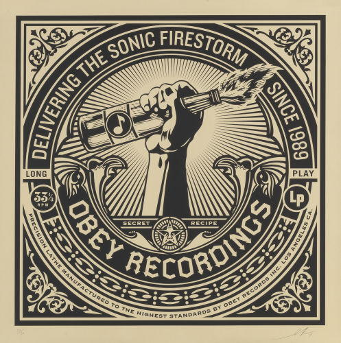 Shepard Fairey-Sonic Firestorm from the 50 Shades of Black series-2014