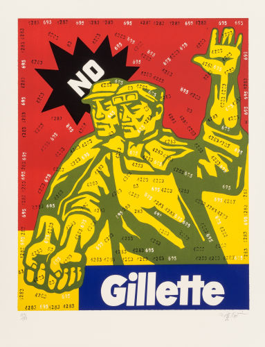 Wang Guangyi-Gillette, from the Great Criticism series-2002