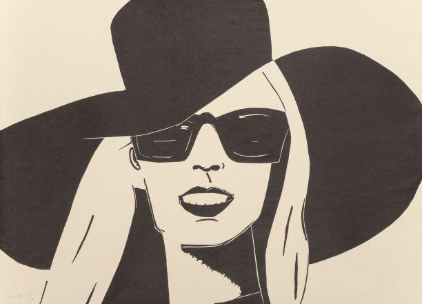 Alex Katz-Black Hat (Nicole)-2010