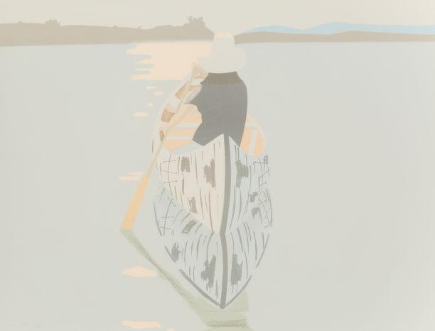 Alex Katz-Good Afternoon 2 (Gray Rowboat)-1975