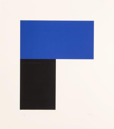 Ellsworth Kelly-Blue with Black I-1974