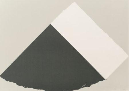 Ellsworth Kelly-Dark Gray and White-1979