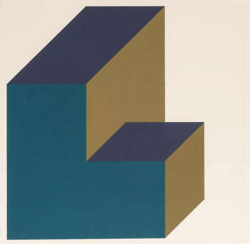 Sol LeWitt-Forms Derived from a Cube (11)-1991
