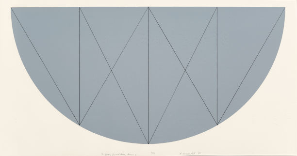 Robert Mangold-1/2 Gray Curved Area, Series X-1968