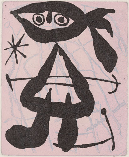 Joan Miro-Untitled, from La bague d'aurore-1957