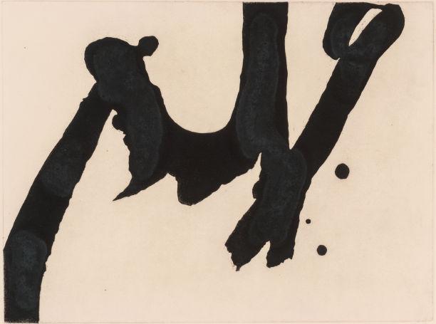 Robert Motherwell-Calligraphic Study IV-1976