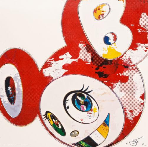 Takashi Murakami-(i) And Then x 6 (Lapis Lazuli: The Superflat Method); (ii) And Then x 6 (Red: The Polke Method)-2013
