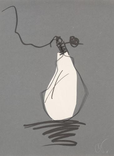 Claes Oldenburg-Hard Times Bulb - Night-1995