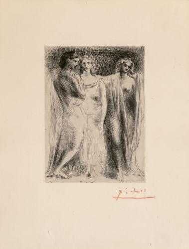Pablo Picasso-Les trois femmes-1922