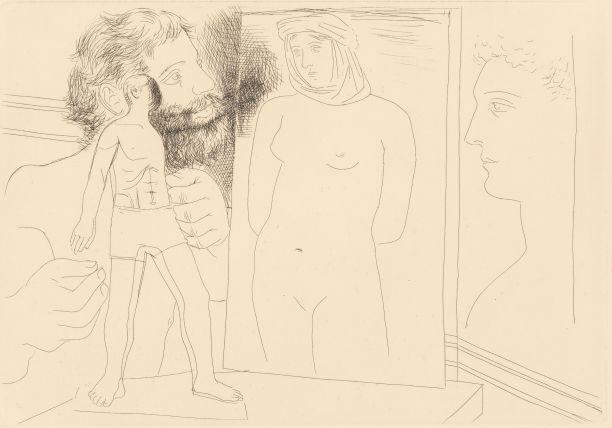 Pablo Picasso-Sculpteur modelantpl. 5from Le Chef-d'OeuvreInconnu-1927