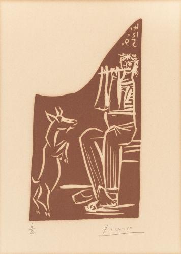 Pablo Picasso-Faune et chevre-1959
