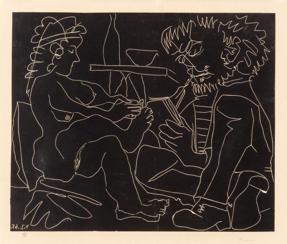 Pablo Picasso-Le peintre et son modele-1965