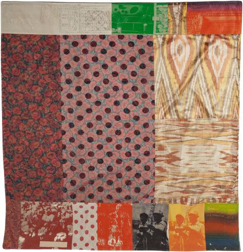 Robert Rauschenberg-Samarkand Stitches I-1988