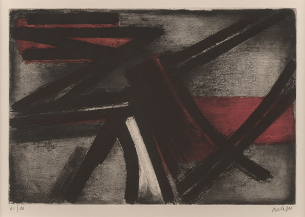 Pierre Soulages-Etching No. 2-1952