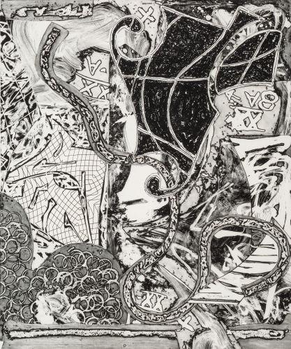 Frank Stella-Swan Engraving V-1984