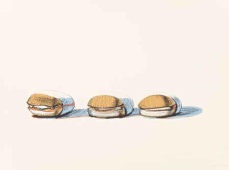 Wayne Thiebaud-Barbecue Beefsfrom Seven Still-Lifes and a Silver-1970
